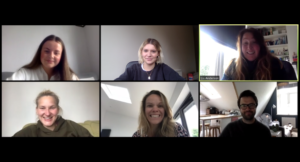 Team and Sophie on zoom call